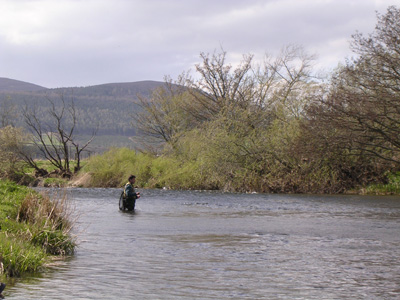 Mike Barrio fishing the Monymusk Fishings on the River Don