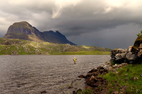 Fly fishing the Assynt lochs