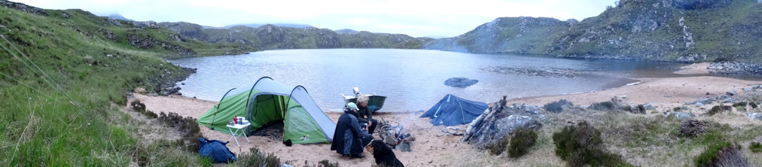 Fly fishing camping expeditions in Assynt